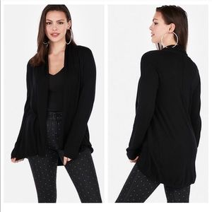 Express Roll Neck Cover Up Cardigan Black